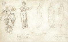 Eugène Delacroix, A SHEET OF FIGURE STUDIES