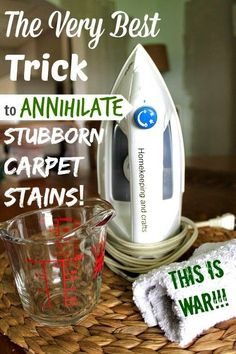 Declare war on stubborn carpet stains! Learn how your iron can help you get your carpet clean for good!