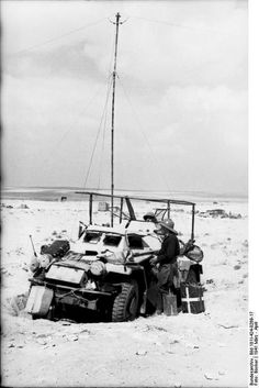 German light armoured car. North Africa. March 1941