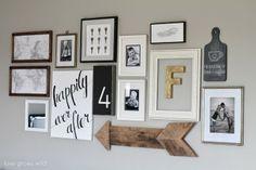 Love this wall arrangement!