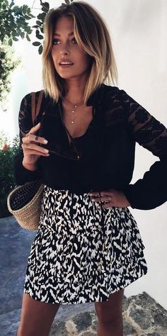 #summer #trending #outfits | Black + White