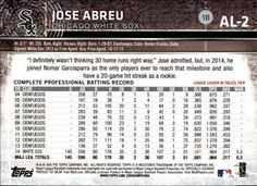 2015 Topps American League All-Stars #AL2 Jose Abreu Back