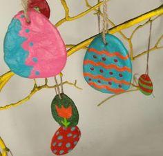 Basteln_mit_Kindern: Ostereier basteln aus Salzteig