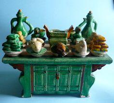 Rara Aparador cerámica antigua Ming