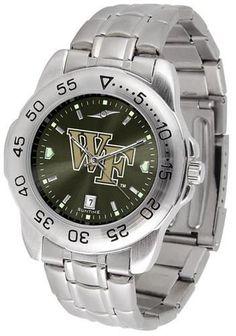 Wake Forest University Men's Stainless Steel Wristwatch