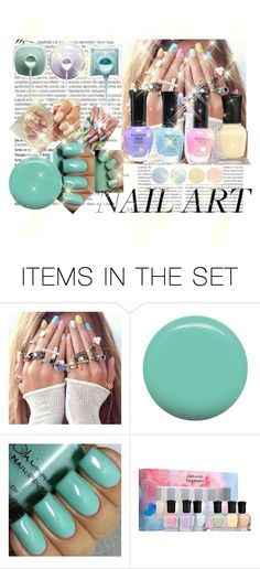 """#NailAddict"" by jadethirlwall92 ❤ liked on Polyvore featuring картины и pastelnails"