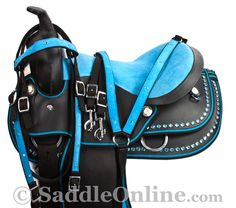 """Last day to order for guaranteed Christmas delivery! Model 8309 is only $249.99 and comes in sizes 12-16""""! Perfect gift for kids! Easy to clean and maintain as well! #saddle #saddles #Christmas #holiday #gift #gifts #kids #youth #kidssaddle #ponysaddle #youthsaddle #riding #rider #equine #equestrian #horse #horses #western #turquoise #blue #westernsaddle #Horsetack #tack"""
