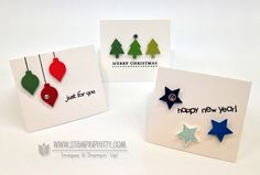 Stampin up stampinup stamp it punch holiday catalog card ideas new years tag gift