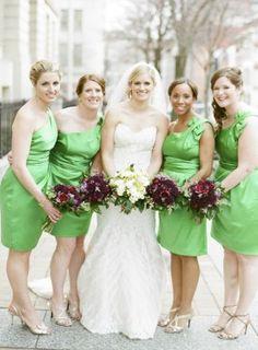 Washington DC Wedding Ceremony Green Bridesmaids Dresses 1 275x374 Modern Meets Vintage Wedding Ceremony in Washington DC: Jessica + Ian