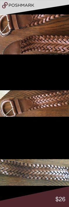 Vintage All Leather Braided Belt 22/24 Vintage All Leather Braided Belt 22/24 Vintage Accessories Belts
