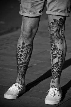 Tattoo / Black & White / Legs / Vans