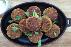 Falafel - My best baked falafel recipe. Vegan and delicious. Do you wonder how to make baked falafel from scratch? It is so simple. Just follow the recipe. And please do not use canned chickpeas for this recipe soaked raw chickpeas makes it taste so much better.