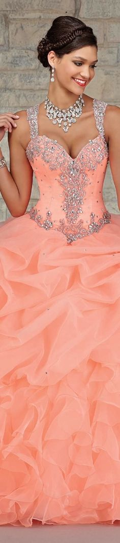 Lovely dress, her tan looks great with that color and jewelry. Bridesmaid Dresses, Prom Dresses, Formal Dresses, Wedding Dresses, Short Dresses, Quinceanera Dresses, Beautiful Gowns, Beautiful Outfits, Elegant Dresses