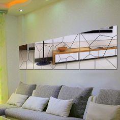 7pcs 3D Irregular Mirror Effect Wall Stickers Art Mural Decal Modern Home Decor in Home, Furniture & DIY, Home Decor, Wall Decals & Stickers | eBay