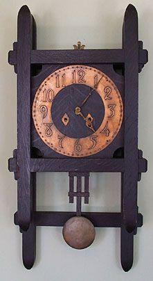 Clocks – Decor : Arts & Crafts wall clock -Read More –