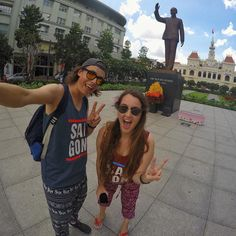 Saigon vest  Elephant pants  Peace sign  Could we be bigger tourists on our last day in Ho Chi Minh? #vietnam #tourist #GoPro . . . #goprohero4 #couple #backpacker #backpackerlife #travelgoals #relationshipgoals #selfie #goprooftheday #photooftheday #wanderlust #travel #travellingtogether #travellingcouple #globetrotter #hochiminh #getbackpacking #hero_adventure #goprowill #saigon #travellers_experience #goproeracademy #herobyhero #goprotravelsz #GoWorldWide #selfiepelomundo #gproworldwide…