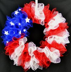 Flag Wreath - Fourth of July wreath - Patriotic wreath - Summer wreath - 4th of July - American Flag