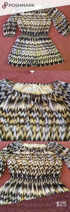 Black and White printed romper This New York & Co. Black and white printed chiffon romper (shorts) is a perfect casual or dressy outfit for any occasion. The neckline has elastic band as well as a draw string. The midsection also includes an elastic waist belt that cinch the waist. Only worn once- in excellent condition!! Size Large New York & Company Pants Jumpsuits & Rompers