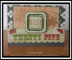 Cricut Inspired Handmade Cards: #56 Winter Wishes Cricut Christmas Card