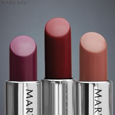 Your go-to lip look this fall? The amazing Mary Kay Gel Semi-Matte Lipstick in Crushed Berry, Midnight Red or Rich Truffle.
