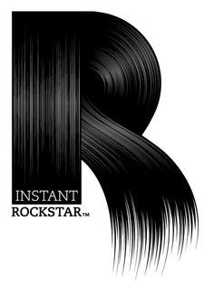 Letter type design by Luke Lucas - http://www.lukelucas.com/#1051616/Instant-Rockstar-Logo.