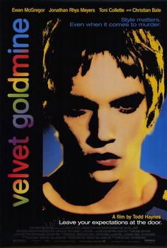 """night-of-the-iguana: """" Velvet Goldmine, A British/American drama film directed and co-written by Todd Haynes. Starring Ewan McGregor, Christian Bale, and Jonathan Rhys Meyers. The film is set in Britain during the days of glam rock in the early. Jonathan Rhys Meyers, Iggy Pop, Ewan Mcgregor, Christian Bale, Early Christian, Glam Rock, David Bowie, Ziggy Stardust, Great Films"""