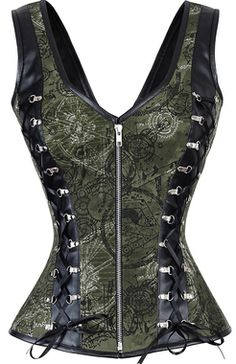Glam it up with a gorgeous Green Corset from The Violet Vixen. Choose a bold and sassy or a stunning and elegant Green Corset Top for your next special night. Style Steampunk, Steampunk Costume, Steampunk Clothing, Steampunk Fashion, Gothic Fashion, Gothic Steampunk, Victorian Gothic, Gothic Lolita, Emo Fashion