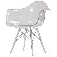 DAW Chair Transparent | Replica DAW Chairs PC | Retrofurnish