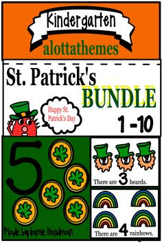 This St. Patricks Number fun activity is great for morning work, centers, or group work. Counting the objects and matching the numbers in this booklet gives great practice! Two other activities included to make lesson planning easier. St Patricks Day Quotes, Happy St Patricks Day, Kindergarten Themes, Teaching Kindergarten, Activities For Teens, Alphabet Activities, St Patricks Day Wallpaper, St Patrick's Day Outfit, St Patrick's Day Decorations