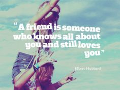 A friend is someone who knows all about you quotes friendship quote friends best friends bff friendship quotes friend quotes bffs best friend quotes Pinned for Pink Pad, the women's health app with built-in social network.  pinkpa.ad