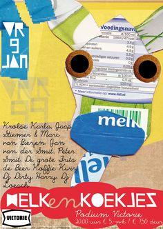 Poster Melk en Koekjes.