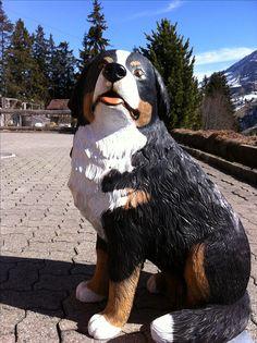 Bernersennenhund aus Holz. Artist Melchior Trummer