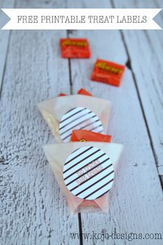 Free Printable Halloween Treat Labels #freeprintables #halloween #freeprintable