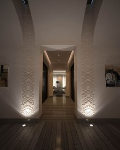 Mimar Interiors - stunning use of symmetry Modern Moroccan, Moroccan Design, Moroccan Style, Islamic Architecture, Architecture Details, Interior Architecture, Interior Walls, Modern Interior, Interior And Exterior