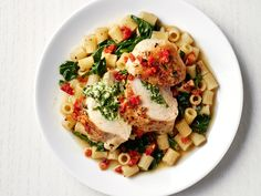 Greek Spinach-Stuffed Chicken recipe from Food Network Kitchen via Food Network