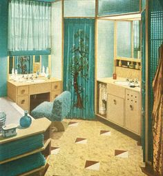 1000 images about vintage living on pinterest 1960s for Bathroom ideas 1940