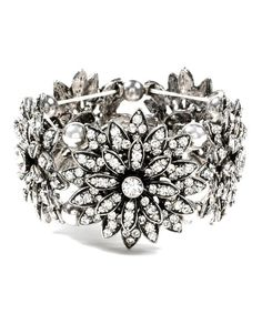 Antique Silver Farrah Stretch Bracelet