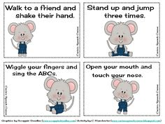 Carrie's Speech Corner: The Mouse Gets the Cheese: A Following Directions Game
