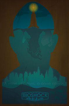 BioShock 1 poster by GushueDesign on deviantART