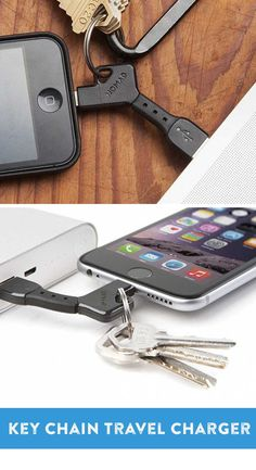 The NomadKey is a small phone-charging jack that easily clips to a keychain. Now you can charge your phone or tablet wherever you go . . . or at least wherever your keys go.