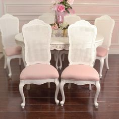 shabby chic cane back chairs - Google Search