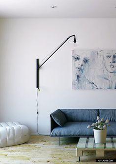 Minimalist Apartment Interior in Scandinavian Style // OLOVO