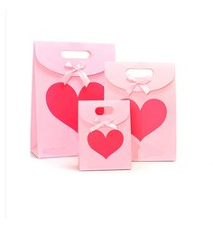 10 pieces Pretty Gift Bag Sticky Paper Bowknot Handle Party Sweet Candy Bag 16092307