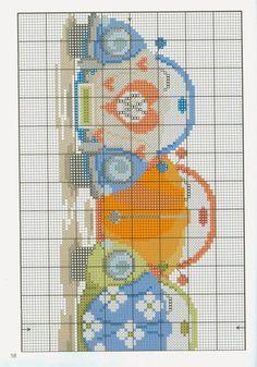Gallery.ru / Фото #54 - Kanavice.n31 2013 - Chispitas Cross Stitching, Cross Stitch Embroidery, Cross Stitch Patterns, Cross Stitch Pillow, Cute Cross Stitch, Hama Beads, Cross Stitch Magazines, Ideas Prácticas, Hello Kitty