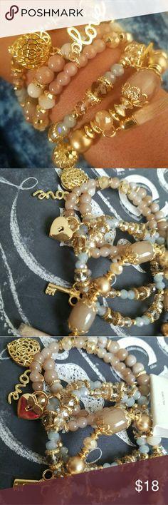 Love charm bracelets NWT love charm bracelets  set of 5 in the set Jewelry Bracelets