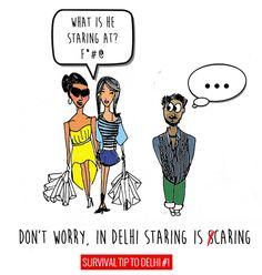 Survival Tip to Delhi #1 by Shiva Kant Vyas, via Behance