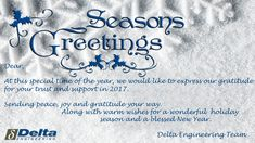 BEST WISHES FROM DELTA ENGINEERING Blow Molding, Wish, Engineering, Peace, Sobriety, Architectural Engineering, World