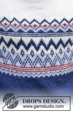 """Ólafur Jumper - Knitted DROPS jumper for men with raglan and Norwegian pattern in """"Karisma"""" or Merino Extra Fine"""". Worked top down. - Free pattern by DROPS Design Fair Isle Knitting Patterns, Jumper Patterns, Drops Patterns, Sweater Knitting Patterns, Drops Design, Knitting Videos, Free Knitting, Knitting Projects, Magazine Drops"""