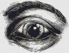 Eye Illustration Cross Stitch Pattern