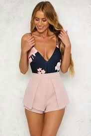 45 Charming Summer Outfits You Need ImmediatelyWachabuy 45 Charming summer outfits that will save your life completely making you look beautiful, trendy and always ready to impress. Cool Summer Outfits, Summer Outfits Women, Short Outfits, Trendy Outfits, Girl Outfits, Fashion Outfits, Rompers Women, Jumpsuits For Women, Mode Shorts